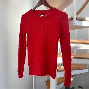 J. Crew Bright Red Knit Sweater